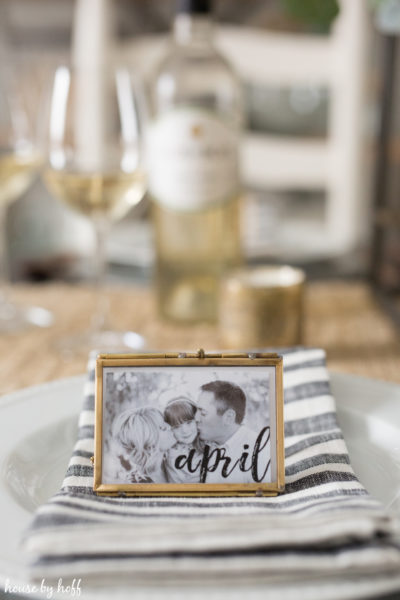 DIY Photo Place Cards