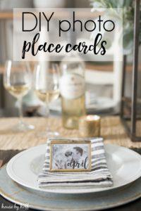 DIY Photo Place Cards