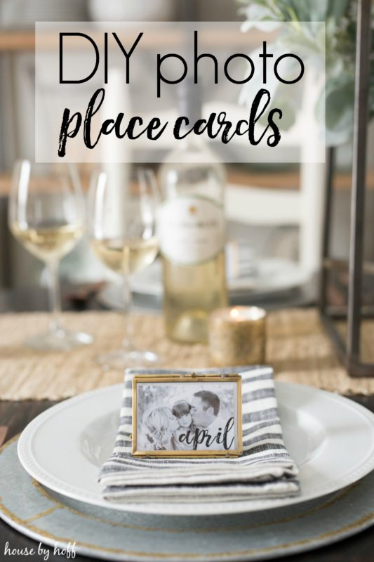 DIY Photo Place Cards via House by Hoff