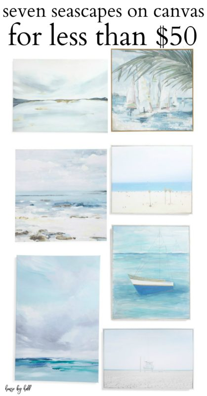 7 Seascapes on Canvas for Less Than $50