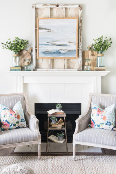 Decorating a Mantel with Blues