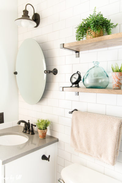 How to Make a Small Bathroom Look Larger:  My Parents' Bathroom Makeover