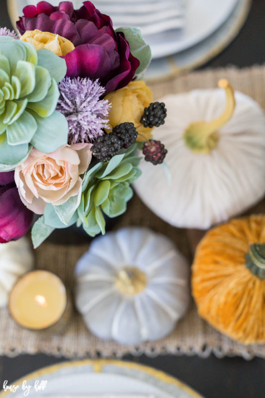 A Colorful Fall Tablescape via House by Hoff