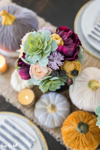 A Colorful Fall Tablescape