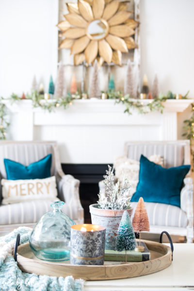 A Colorful Holiday Mantel