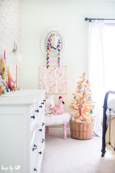 A Sweet and Colorful Holiday Little Girl's Room