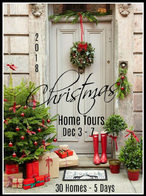 Christmas home tours poster.