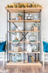 Open Shelves Styled for Winter
