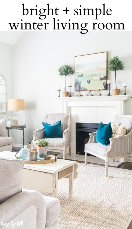 Bright and Simple Winter Living Room poster.