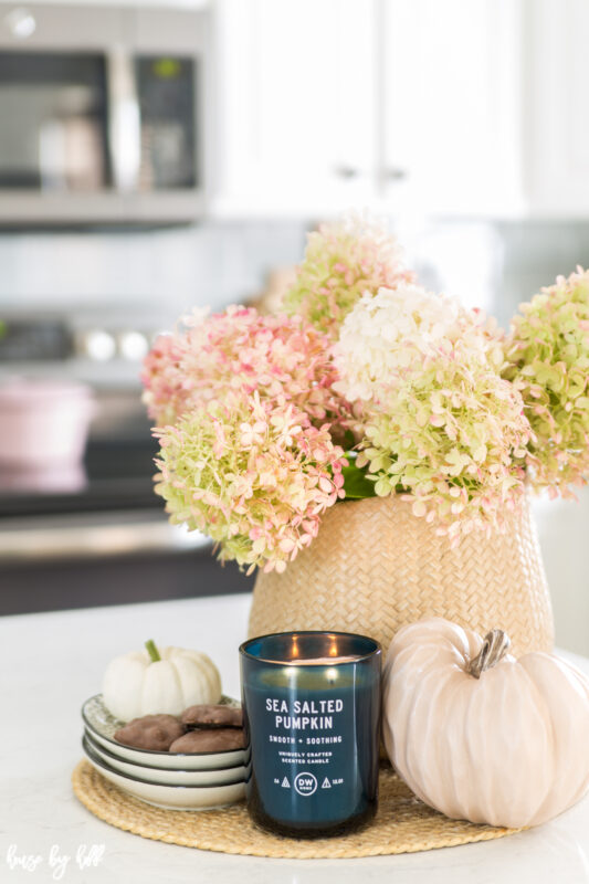 Hydrangea Centerpiece for Fall