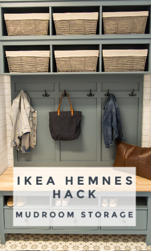 Ikea Hemnes Hack: DIY Mudroom Storage