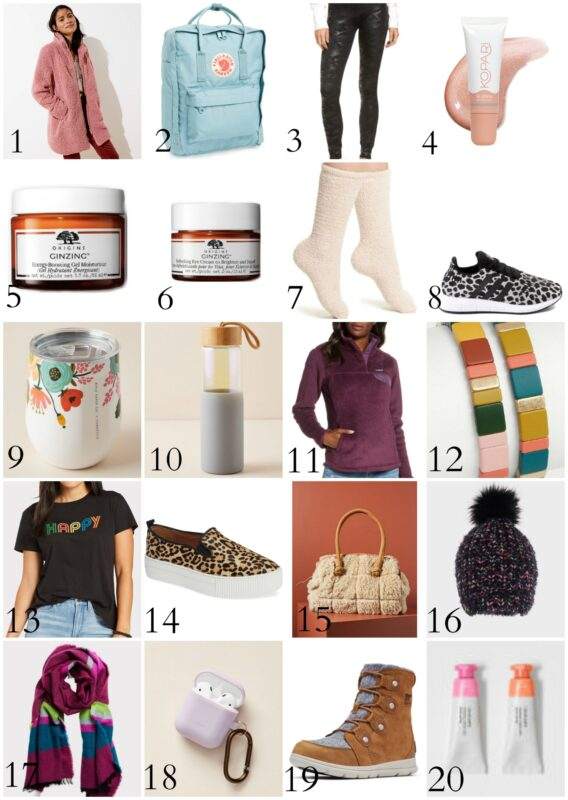 Gift Guide for the Girl on the go poster.