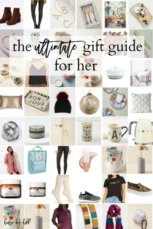 The Ultimate Gift Guide For Her graphic.