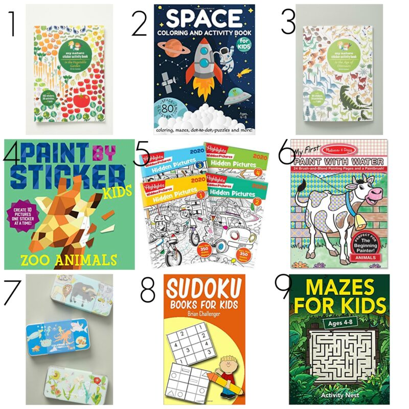 Activity books for children when they have to stay home