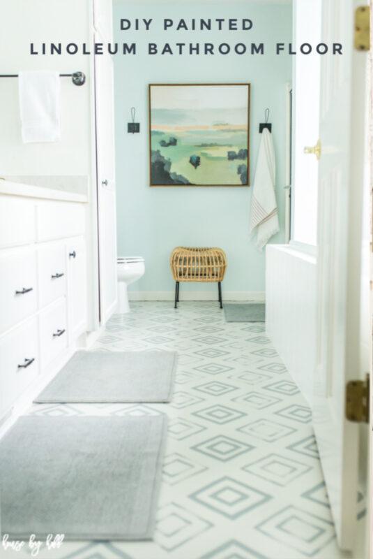 Diy Painted Linoleum Bathroom Floor House By Hoff