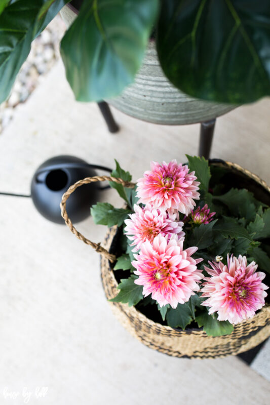 Summer Flowers in Basket