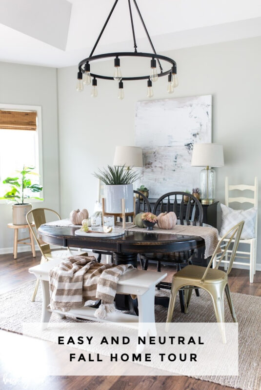 Easy and Neutral Fall Home Decor