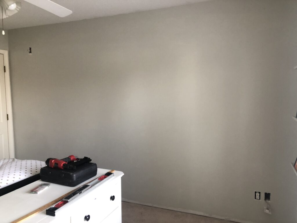 Wall Before Painted Vapor Trails by Benjamin Moore